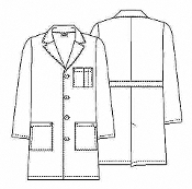 Dickies Everyday Scrubs Unisex Lab Coat   83402