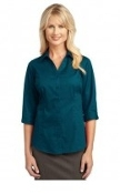 Port Authority Ladies Three quarter-Sleeve Blouse  L6290