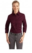 Port Authority Ladies Three quarter-Sleeve Easy Care Shirt L612