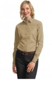 Port Authority Ladies Long Sleeve Value Cotton Twill Shirt