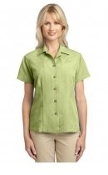 Port Authority Ladies Patterned Easy Care Camp Shirt