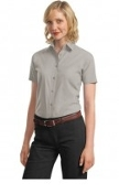 Port Authority Ladies Short Sleeve Value Poplin Shirt