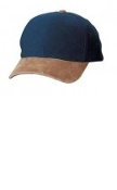 Port Authority Two-Tone Brushed Twill Cap  Suede Visor