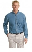 Port Authority Tall Long Sleeve Denim Shirt