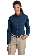 Port - Company Ladies Long Sleeve Value Denim Shirt LSP10