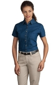 Port - Company Ladies Short Sleeve Value Denim Shirt