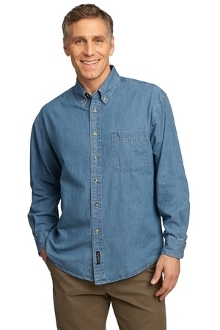 Port - Company Long Sleeve Value Denim Shirt