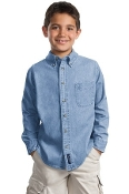 Port - Company Youth Long Sleeve Value Denim Shirt