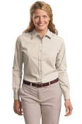 Port Authority Ladies L-S Easy Care Soil Resistant Shirt L607