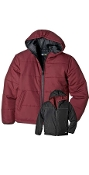 KJ907 UNISEX REVERSIBLE DPS CHANNEL QUILTED HOODED JACKET