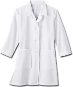 "Meta Fundamentals Ladies 33"" 3/4 Sleeve Labcoat"