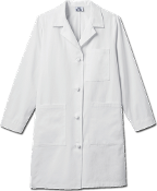"Meta Ladies 38"" Ladies Knot Button iPad® Labcoat"