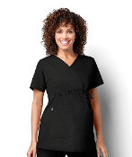 WOMEN'S MATERNITY MOCK WRAP TOP