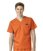 COLLEGIATE UNISEX V-NECK SCRUB TOP