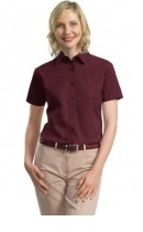 Port Authority Ladies Short Sleeve Value Cotton Twill Shirt